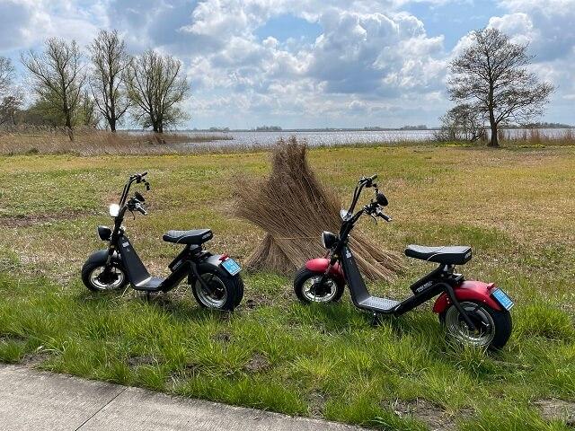 huur een elektric scooter in giethoorn